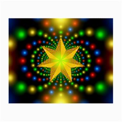 Christmas Star Fractal Symmetry Small Glasses Cloth by Celenk