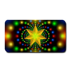 Christmas Star Fractal Symmetry Medium Bar Mats by Celenk