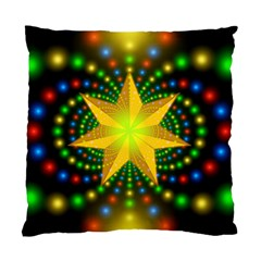 Christmas Star Fractal Symmetry Standard Cushion Case (two Sides) by Celenk