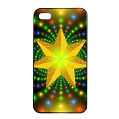 Christmas Star Fractal Symmetry Apple Iphone 4/4s Seamless Case (black) by Celenk
