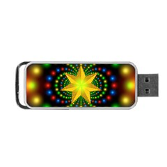 Christmas Star Fractal Symmetry Portable Usb Flash (one Side) by Celenk