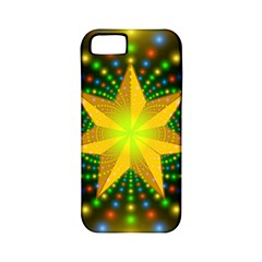 Christmas Star Fractal Symmetry Apple Iphone 5 Classic Hardshell Case (pc+silicone) by Celenk