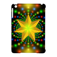 Christmas Star Fractal Symmetry Apple Ipad Mini Hardshell Case (compatible With Smart Cover) by Celenk