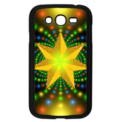 Christmas Star Fractal Symmetry Samsung Galaxy Grand Duos I9082 Case (black) by Celenk