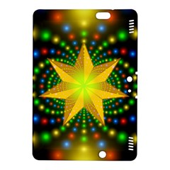 Christmas Star Fractal Symmetry Kindle Fire Hdx 8 9  Hardshell Case by Celenk