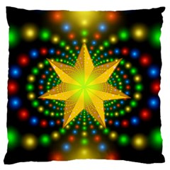 Christmas Star Fractal Symmetry Standard Flano Cushion Case (one Side) by Celenk