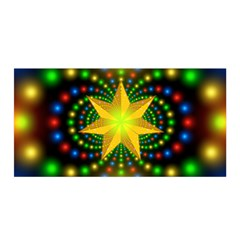 Christmas Star Fractal Symmetry Satin Wrap by Celenk