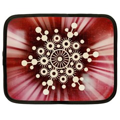 Background Star Red Abstract Netbook Case (xl)  by Celenk