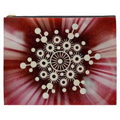 Background Star Red Abstract Cosmetic Bag (xxxl)  by Celenk