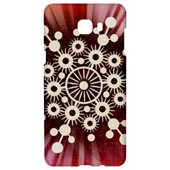 Background Star Red Abstract Samsung C9 Pro Hardshell Case  by Celenk