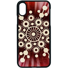 Background Star Red Abstract Apple Iphone X Seamless Case (black)