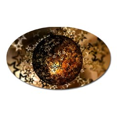 Christmas Bauble Ball About Star Oval Magnet by Celenk