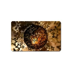 Christmas Bauble Ball About Star Magnet (name Card) by Celenk