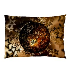 Christmas Bauble Ball About Star Pillow Case (two Sides) by Celenk