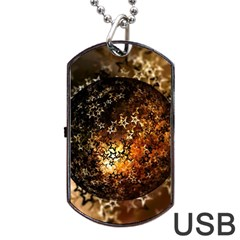Christmas Bauble Ball About Star Dog Tag Usb Flash (two Sides) by Celenk