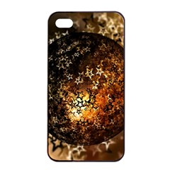 Christmas Bauble Ball About Star Apple Iphone 4/4s Seamless Case (black) by Celenk