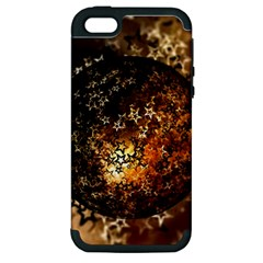 Christmas Bauble Ball About Star Apple Iphone 5 Hardshell Case (pc+silicone)