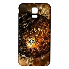 Christmas Bauble Ball About Star Samsung Galaxy S5 Back Case (white) by Celenk