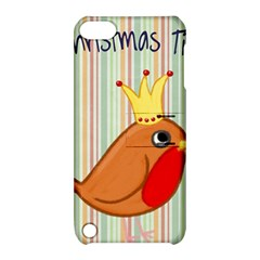 Bird Christmas Card Blue Modern Apple Ipod Touch 5 Hardshell Case With Stand by Celenk