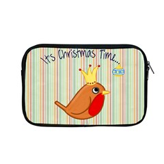 Bird Christmas Card Blue Modern Apple Macbook Pro 13  Zipper Case by Celenk