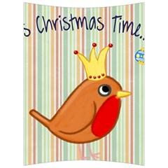 Bird Christmas Card Blue Modern Back Support Cushion by Celenk