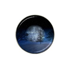Winter Wintry Moon Christmas Snow Hat Clip Ball Marker by Celenk