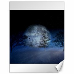 Winter Wintry Moon Christmas Snow Canvas 12  X 16   by Celenk
