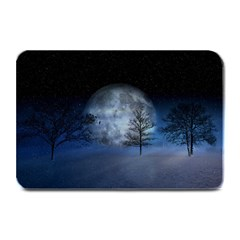 Winter Wintry Moon Christmas Snow Plate Mats by Celenk