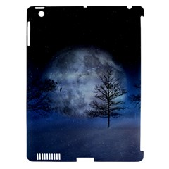 Winter Wintry Moon Christmas Snow Apple Ipad 3/4 Hardshell Case (compatible With Smart Cover) by Celenk