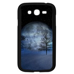 Winter Wintry Moon Christmas Snow Samsung Galaxy Grand Duos I9082 Case (black) by Celenk