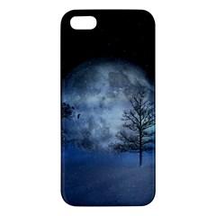 Winter Wintry Moon Christmas Snow Iphone 5s/ Se Premium Hardshell Case by Celenk