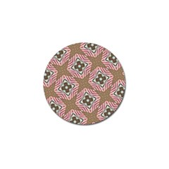 Pattern Texture Moroccan Print Golf Ball Marker (4 Pack) by Celenk