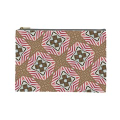 Pattern Texture Moroccan Print Cosmetic Bag (large)  by Celenk