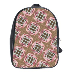 Pattern Texture Moroccan Print School Bag (xl) by Celenk