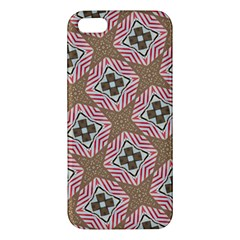 Pattern Texture Moroccan Print Apple Iphone 5 Premium Hardshell Case by Celenk