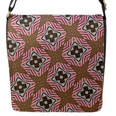 Pattern Texture Moroccan Print Flap Messenger Bag (s) by Celenk