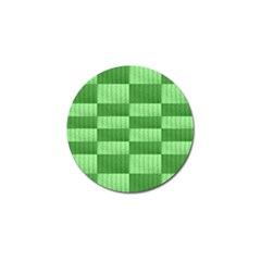 Wool Ribbed Texture Green Shades Golf Ball Marker by Celenk