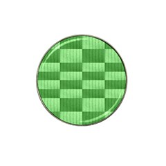 Wool Ribbed Texture Green Shades Hat Clip Ball Marker (4 Pack) by Celenk