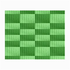 Wool Ribbed Texture Green Shades Small Glasses Cloth by Celenk