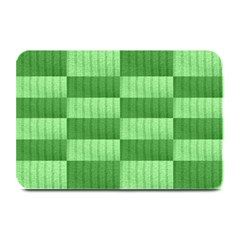 Wool Ribbed Texture Green Shades Plate Mats by Celenk