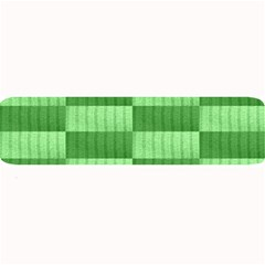 Wool Ribbed Texture Green Shades Large Bar Mats by Celenk