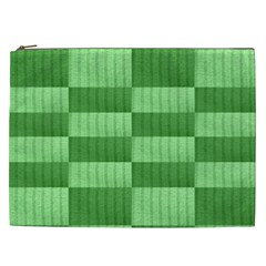 Wool Ribbed Texture Green Shades Cosmetic Bag (xxl)  by Celenk