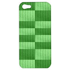 Wool Ribbed Texture Green Shades Apple Iphone 5 Hardshell Case by Celenk