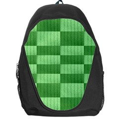 Wool Ribbed Texture Green Shades Backpack Bag by Celenk