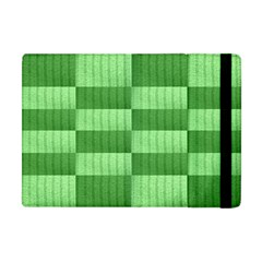Wool Ribbed Texture Green Shades Apple Ipad Mini Flip Case