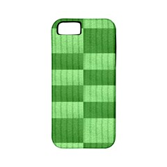 Wool Ribbed Texture Green Shades Apple Iphone 5 Classic Hardshell Case (pc+silicone) by Celenk