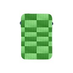 Wool Ribbed Texture Green Shades Apple Ipad Mini Protective Soft Cases by Celenk