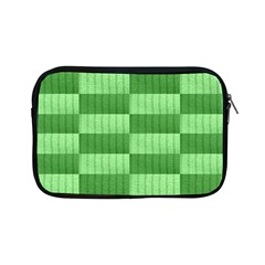 Wool Ribbed Texture Green Shades Apple Ipad Mini Zipper Cases by Celenk