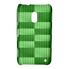 Wool Ribbed Texture Green Shades Nokia Lumia 620 by Celenk
