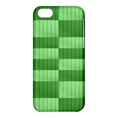Wool Ribbed Texture Green Shades Apple Iphone 5c Hardshell Case